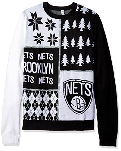 Denver Nuggets Busy Block Ugly Sweater Large