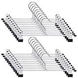 RAKUTEEY 【令和最新 2年品質保証】ズボンハンガー 20本組 スカートハンガー 強力クリップ すべらない ハンガー 頑丈 洗濯 ハンガー 物干し 多機能ハンガー 幅30㎝