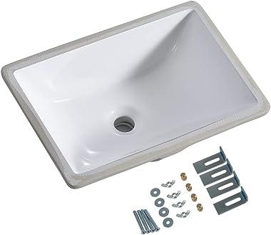 "Under Mount Vessel Sink, Future Height 16"" x 11"", 16 inch by 11 inch, Under Counter Bathroom Sink, Vanity Sink Top, W"