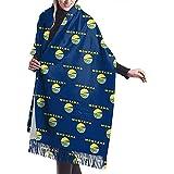 Elaine-Shop Montana Flag Pattern Warmer Pashmina Scarf Shawl Oversized Wrap Scarf para mujeres