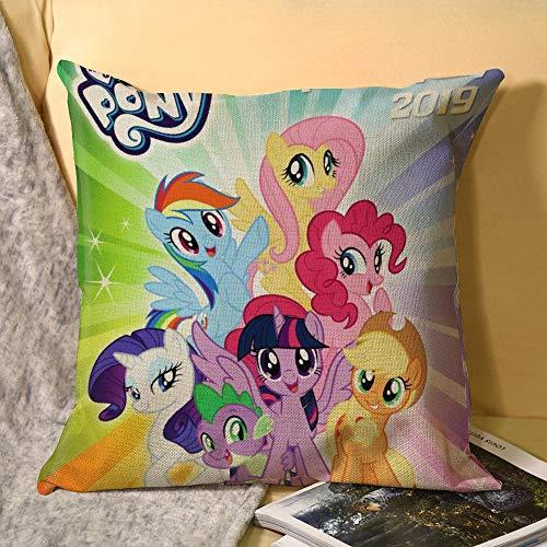 My Little Pony - Funda de cojín cuadrada para sofá, silla, sofá, dormitorio, 45 x 45 cm