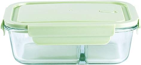 YUMEIGE lunchbox Glazen lunchbox, magnetron, verwarming, kantoorarbeiderkom, gepartitioneerde lunchbox, lunchbox, verse do...