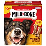 Contains (1) 10 Pound box of Dog Treats for dogs over 20 Pounds (Packaging may vary) Wholesome and tasty dog treats — now with even MORE meaty taste compared to the Milk-Bone Original biscuits you know and love Crunchy texture helps freshen breath an...