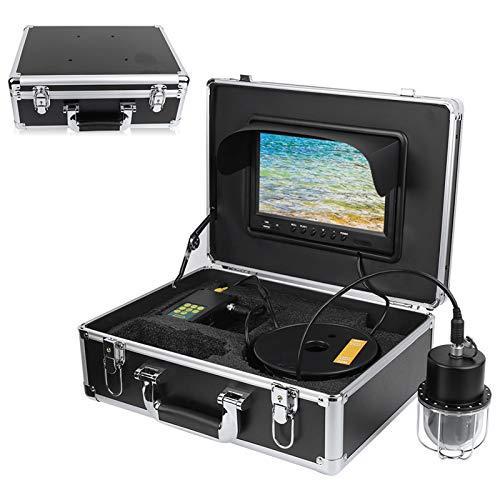 Grabador DVR de 9 pulgadas para actividades subacuáticas, IP68, cámara de pesca impermeable con línea de 20 pulgadas de 65,6 pies de 360°, cámara DVR de alta resolución con línea HD CD 800 TV (EUplug)