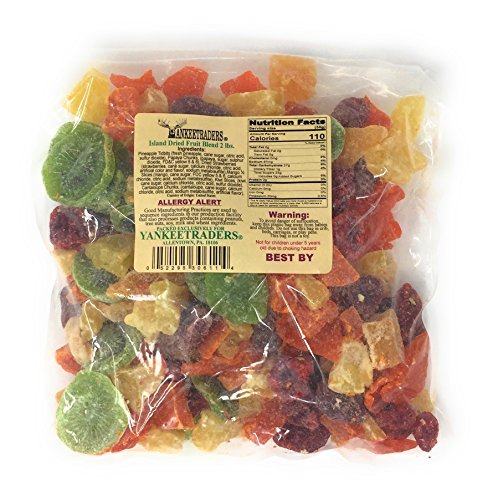 Yankee Traders Brand Tropical Island Dried Fruit Blend Mix, 2 Pound