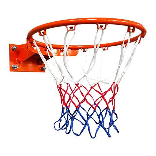 WYHM Durable Anillo de Baloncesto Y Dos Redes de Baloncesto Rim Tamaño Oficial de Baloncesto Hoop 18 '' Golazo de Baloncesto para Adultos para Adultos Completo Accesorios