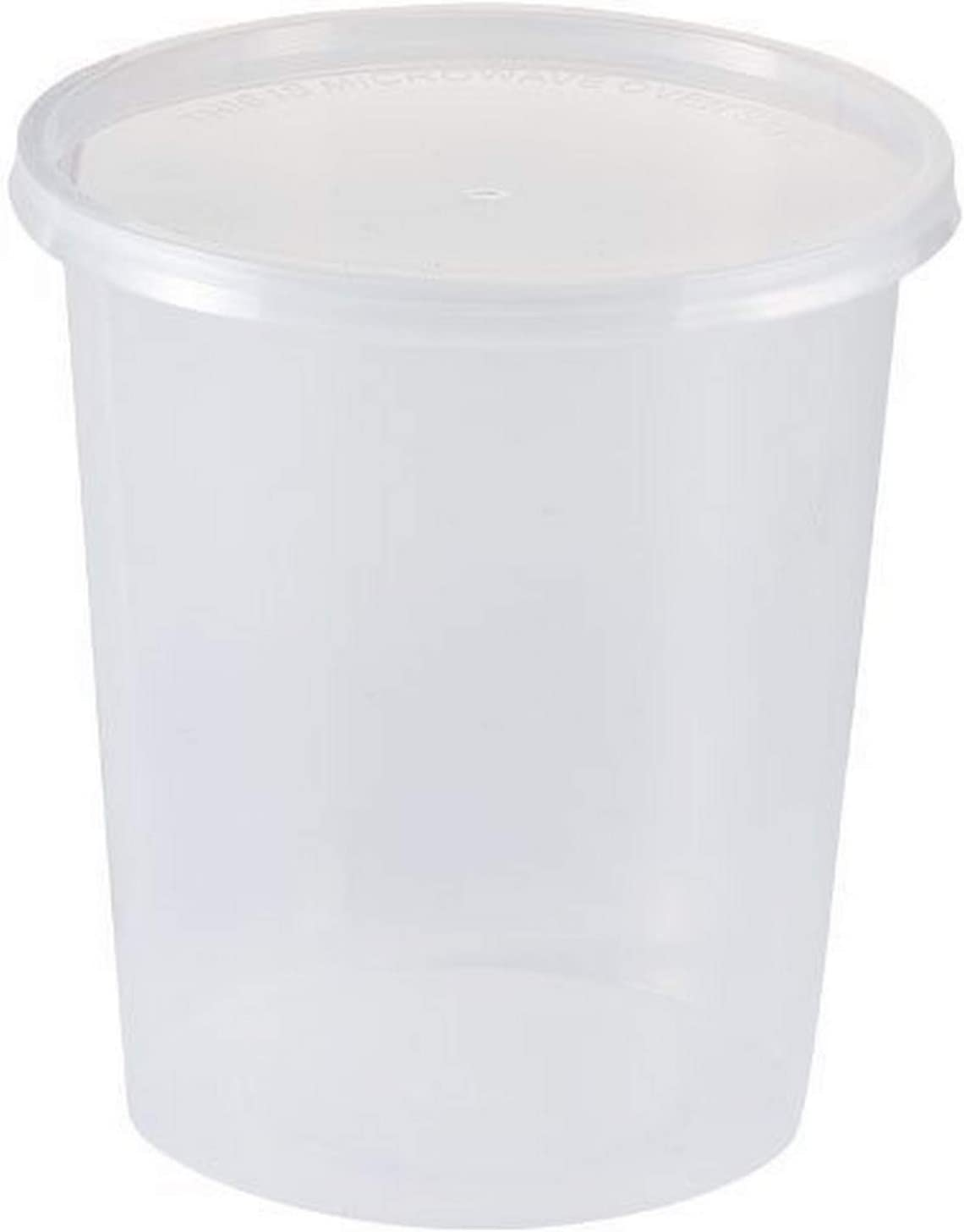 Nicole Home Collection Clear Round Lid | 32 oz | Pack of 4 Storage Container