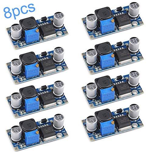 RUNCCI-YUN 8Pcs LM2596S DC-DC Buck Converter Set, 3.2-46V bis 1.25-35V Step-Down Spannungsregler Abwärtswandler, Stromversorgung Step Down Modul, für Arduino