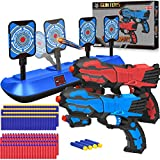 POKONBOY 2 Pack Blaster Toy Guns for Boy with 80 Soft Foam Bullets and Electric Scoring Auto Reset...