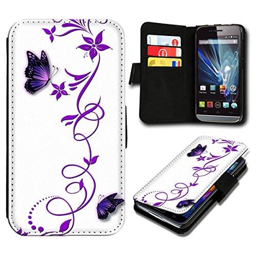 sw-mobile-shop Book Style Wiko Fizz Premium PU-Leder Tasche Flip Brieftasche Handy Hülle mit Kartenfächer für Wiko Fizz - Design Flip SB815