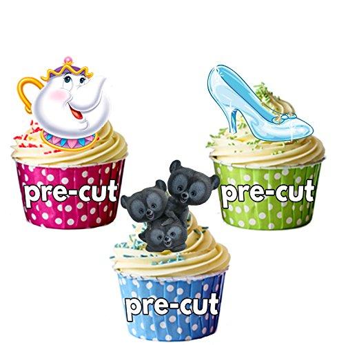 PRE-Cut Disney Party Pack - Eetbare Cupcake Toppers/Cake Decoraties (Pak van 36)
