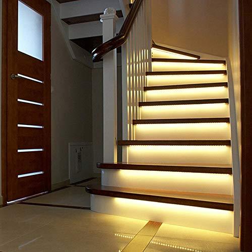Intelligente Batterie Treppenlichter mit Bewegungsmelder Nachtlicht Treppenbeleuchtung Stufenbeleuchtung Wandbeleuchtung Bewegungssensor Schalten Sie ein Treppenlicht