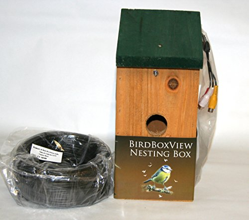 Birdboxview cctv camera nestbox. Watch and listen to birds in their nest on your TV. Unique wildlife gift. Despatched via Royal Mail 24 service.