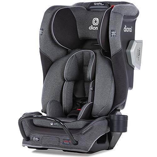 Diono 2020 Radian 3QXT, 4 in 1 Convertible, Safe+ Engineering, 4 Stage Infant Protection, 10 Years 1 Car Seat, Fits 3 Across, Gray Slate
