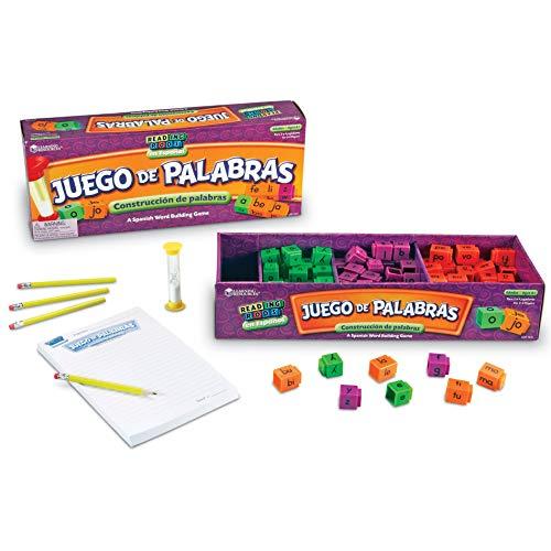 Learning Resources LER7241 Juego de Palabras Español, Reading Rods, NULL