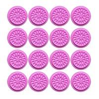 Minkissy 20個まつげ接着ガスケットパッド花形つけまつげ接着剤ホルダー化粧まつげエクステンション(紫)