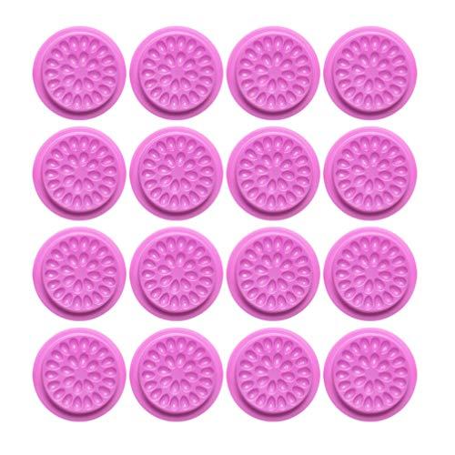 Beaupretty 20Pcs Porte-Colle de Cils Faux Cils Tampon de Colle Forme de Fleur Cils Joint Adhésif Support de Pigment Base pour Extension de Cils Violet