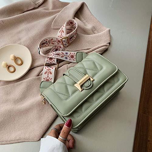 Mdsfe Bolso de Hombro de diseñador de Moda para Mujer, Bolso de Hombro de Cuero de PU Mujer, Bolso Cruzado Blanco para Mujer, Bolso de Mujer 2020 - Verde, 20CMX 14CMX 7CM