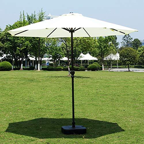 ERLAN Parasol Jardin Paraguas de Mesa Al Aire Libre Sin Base, 2,7m Sombrilla Parasol con 8 Varillas Resistentes y Manivela, Piscina Terraza Refugio de La Sombra del Sol del Patio (Color : Beige)