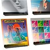 Espositore da Parete per Dischi in Vinile Hi-Fi LP Hudson - Confezione da Quattro - Mostra Il Tuo ascolto Quotidiano con Stile - Grigio