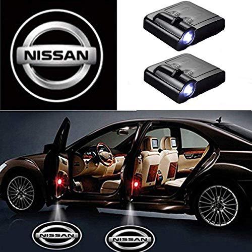 AllRing 2 Stücke Drahtlose Autotür Led Willkommen Laser Projektor Logo Licht Geist Schatten Licht Lampe Logos (Nissan)
