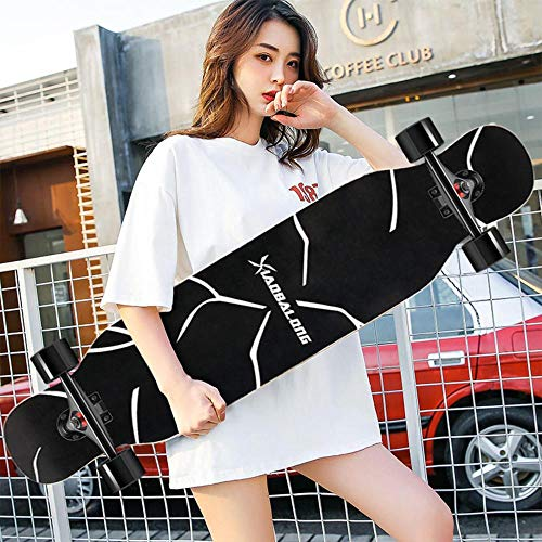 HUADUO Longboard, Maple Skateboard Jungen und Mädchen Brush Street Dance Board Anfänger Erwachsene Jugend Allrad-Skateboard-Farbe-K