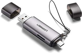 UGREEN SD Card Reader USB 3.0/USB C OTG Dual Slot Memory Card Adapter for UHS-I,Micro SD,SD, SDXC,SDHC,Micro SDXC,Micro SD...