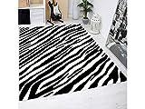 Oedim Alfombra Estampado Piel Cebras PVC | 95 cm x 133 cm| Moqueta PVC | Suelo vinilico | Decoración del Hogar