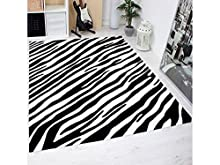 Oedim Alfombra Estampado Piel Cebras PVC   95 cm x 165 cm  Moqueta PVC   Suelo vinilico   Decoración del Hogar