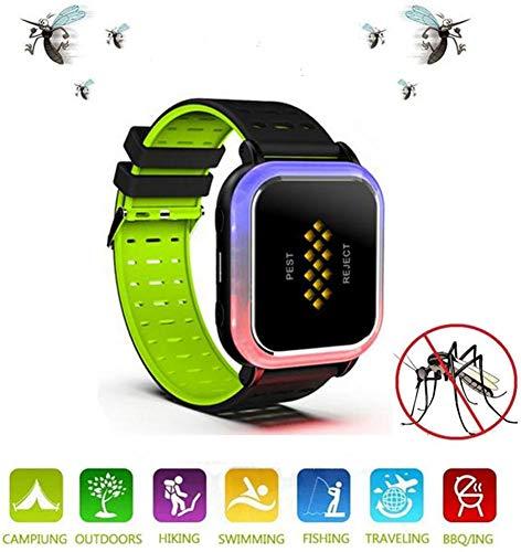 Tacey Ultraschall-Mückenschutz-Armbänder, Anti-Moskito-Uhr Intelligente Elektronische Anti-Moskito-Armbanduhr Mit USB-Aufladung/Wasserdicht/Wiederverwendbar, Für Kinder Und Erwachsene