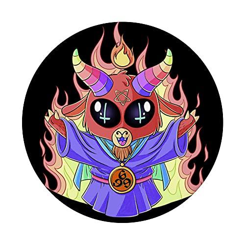 Tierno chibi Satan te ama. Abraza la oscuridad infierno 666% PopSockets PopGrip Intercambiable