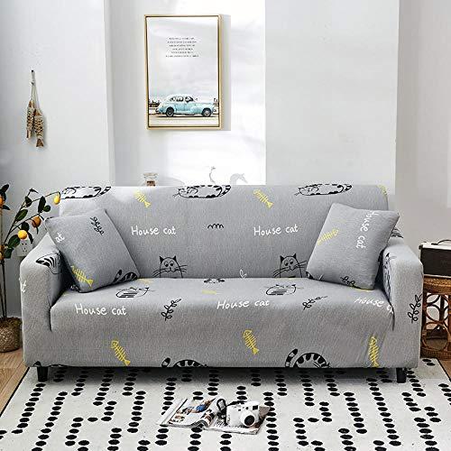 HTEZGDB Universellt sofföverdrag stretch sofföverdrag soffa armskydd skydd skydd mjukt och bekvämt, skydda soffan katt, grå 1 sits: 90–140 cm