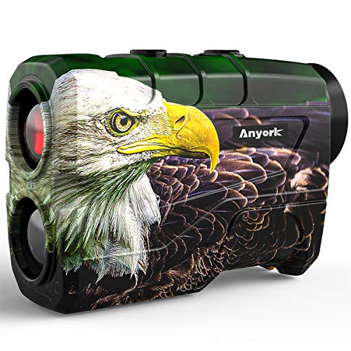 Anyork Hunting Rangefinder with Rechargeable Battery, 1000 Yards Laser Range Finder for Bow Hunting, 6X Magnification Archery Rangefinder with Scan Distance Angle, Carrying Case
