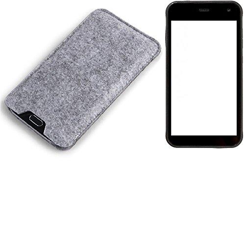 K-S-Trade® Filz Schutz Hülle Für Cyrus CS 22 Schutzhülle Filztasche Filz Tasche Hülle Sleeve Handyhülle Filzhülle Grau