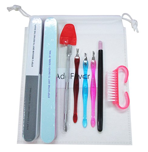 Beauty Shopping Nail Art Cuticle Remover Pusher Clippers Trimmer Nail File Buffer