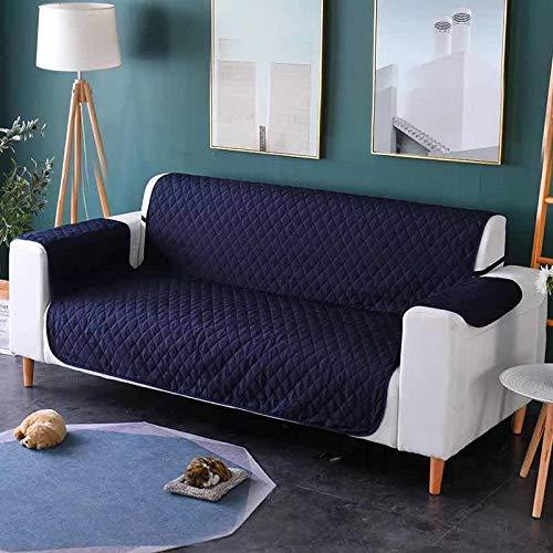 Dido´s Funda de sofá Impermeable, Protector para Sofás Acolchado, Protección para Mascotas, Funda de sofá Anti-Suciedad, Cubre sofá Antideslizante para Perros (Azul, 116 X 188 cm 2 PLAZAS)