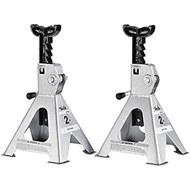 TONDA 2 TON Steel Jack Stand, 1 Pair (10.7-17 inches Lift Range)
