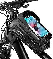 ROCKBROS Fietsframetas, Stuurtas, Waterdichte Gsm-tas met TPU-gevoelig Touchscreen voor Smartphones tot 6,8 inch...