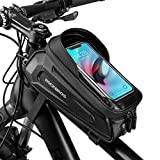 ROCKBROS Bolsa de Cuadro Tubo Superior de Bicicleta Montaña Carretera MTB con Pantalla Táctil para Móvil iPhone 11 XS MAX XR 8 7 Plus