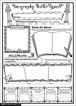 Instant Personal Poster Sets  Biography Report  Big Write-and-Read Learning Posters Ready for Kids to Personalize and Display With Pride!