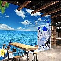 QHZSFF 壁画壁紙 エーゲ海 3D 写真の壁紙寝室の壁の家の装飾現代のクリエイティブリビングルームの子供の部屋の壁壁画 200 x 140cm