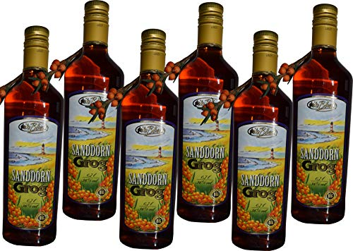 6x Sanddorn Grog 36% je 0.7l Flasche Likör, Heiko Blume