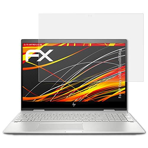 atFolix Schutzfolie kompatibel mit HP Envy x360 15-cn0008ng Displayschutzfolie, HD-Entspiegelung FX Folie (2X)