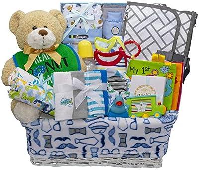 Bundle of Joy Deluxe Baby Boy Gift Basket   New Baby Gift Set