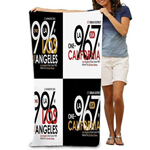 Toalla de Playa Athletic Sport Los Angeles California Tipografía Imprimir Athletic Sport Los Angeles California Tipografía