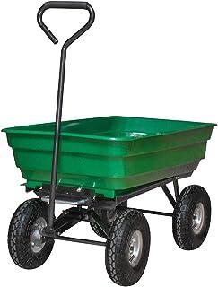 LeMeiZhiJia – Carretilla de jardín, carro de jardín, carro de mano, función de inclinación, carro de transporte para jardín, obra, etc.