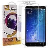Guran 4 Paquete Cristal Templado Protector de Pantalla para Xiaomi Mi MAX 2 Smartphone 9H Dureza Anti-Ara?azos Alta Definicion Transparente Película