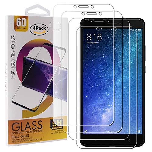 Guran 4 Paquete Cristal Templado Protector de Pantalla para Xiaomi Mi MAX...