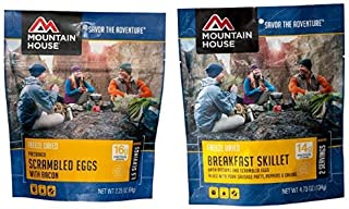 Mountain House Scrambled Eggs with Bacon and Mountain House Breakfast Skillet Bundle