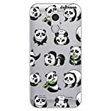 dakanna Funda Compatible con [ZTE Blade V7 Lite] de Silicona Flexible, Dibujo Diseño [Panda], Color [Fondo Transparente] Carcasa Case Cover de Gel TPU para Smartphone